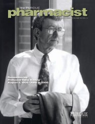 Summer 2006 - Purdue College of Pharmacy - Purdue University