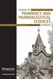 School of Pharmacy and Pharmaceutical Sciences - Purdue College ...