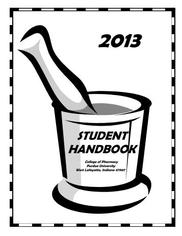 Pharmacy Student Handbook - Purdue College of Pharmacy ...