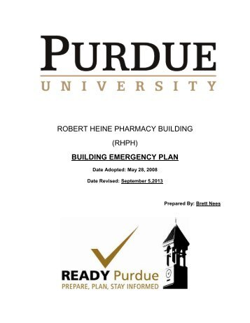 RHPH Building Emergency Plan - Purdue College of Pharmacy ...