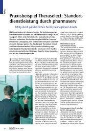 Praxisbeispiel Theraselect: Standort- dienstleistung durch pharmaserv