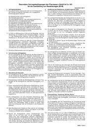 Besondere Vertragsbedingungen der Pharmaserv GmbH & Co. KG ...