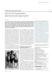 Vitamin D im Säuglingsalter – alkoholische oder ... - pharmaSuisse