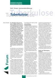 Tuberkulose - pharmaSuisse
