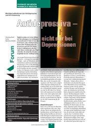 Antidepressiva - nicht nur bei Depressionen - pharmaSuisse