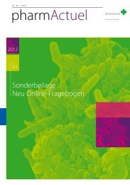 Sonderbeilage Neu Online-Fragebogen - pharmaSuisse