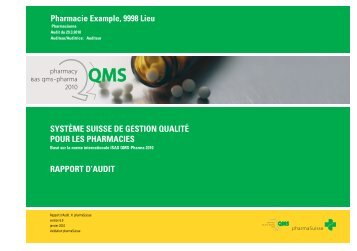 Rapport d'audit - pharmaSuisse