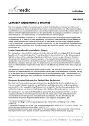 Leitfaden Arzneimittel & Internet - pharmaSuisse