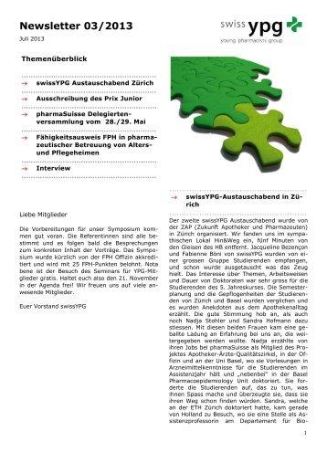 Newsletter 03/2013 - pharmaSuisse