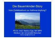 Die Bauernkinder-Story - Vom Zufallsbefund zur Asthma-Impfung