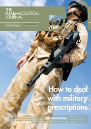 How to deal with military prescriptions - Pharmaceutical Press