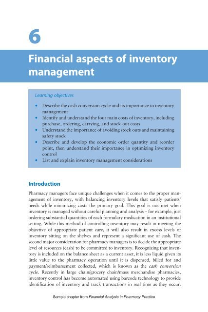 Financial aspects of inventory management