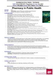 Adverse Drug Reactions - Pharmaceutical Press