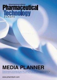 MEDIA PLANNER - Pharmaceutical Technology