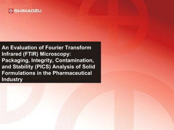 An Evaluation of Fourier Transform Infrared (FTIR) Microscopy ...