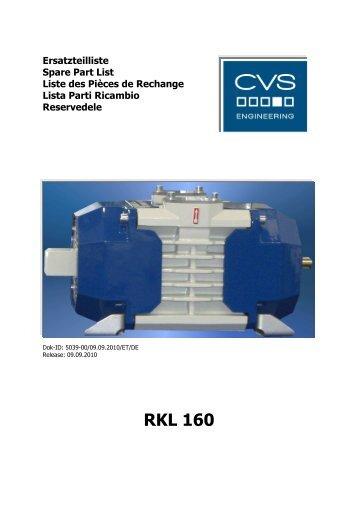 Ersatzteilliste RKL 160 - CVS Engineering - Compressors