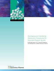 Developing and Validating Dissolution Procedures for Improved ...