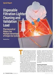 Disposable Filtration Lightens Cleaning and Validation Load ...
