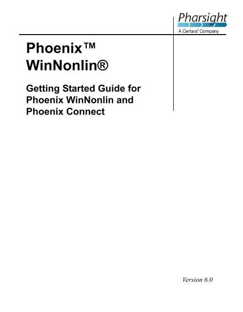 Phoenix WinNonlin 6 0 Getting Started Guide book - Pharsight