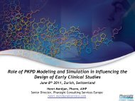 Role of PKPD Modeling and Simulation in Influencing ... - Pharsight