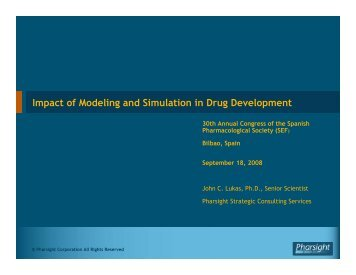 Impact of Modeling and Simulation in Drug Development - Pharsight ...