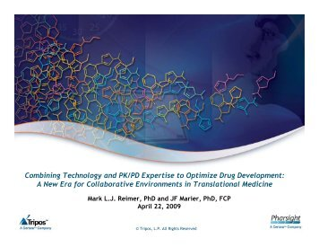 Combining Technology and PK/PD Expertise to Optimize Drug ...