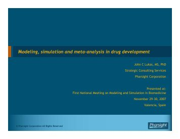 Modeling, simulation and meta-analysis in drug development