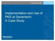 Genentech PKS case study - Pharsight