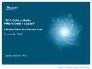 FDA Critical Path - Pharsight Corporation