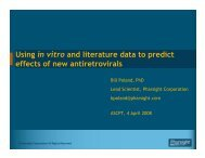 Using in Vitro and Literature Data to Predict Effects of New Anti ...