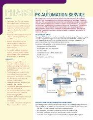 Data Sheet - Pharsight Corporation