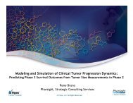 Modeling and Simulation of Clinical Tumor Progression ... - Pharsight
