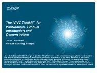 The IVIVC Toolkit™ for WinNonlin - Pharsight