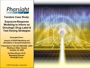 (Taxotere) Case Study - Pharsight