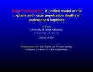 Nodal Protectorate - UBC Physics & Astronomy - University of British ...