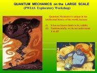 QUANTUM MECHANICS on the LARGE SCALE - UBC Physics ...