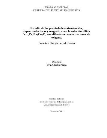 Estudio de las propiedades estructurales, superconductoras y ...