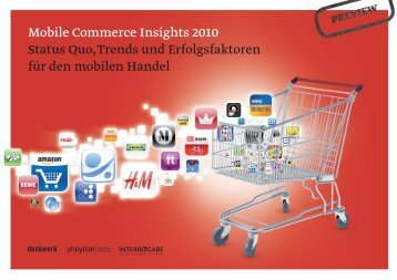 """Studie """"Mobile Commerce Insights 2010"""" - iBusiness"""
