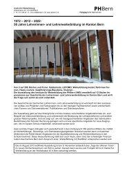 Themen und Texte der Ausstellung - PHBern