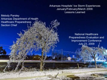 Ice Storm Experiences - PHE