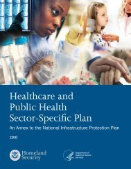 2010 Healthcare and Public Health Sector-Specific Plan - PHE Home