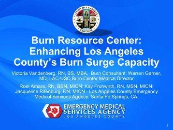 Enhancing Burn Surge Capacity