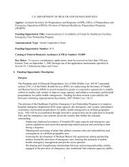 FY 2007 Hospital Preparedness Program Funding ... - PHE Home