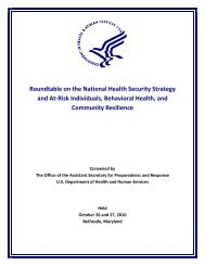 Roundtable on the National Health Security Strategy ... - PHE Home