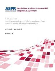 (HPP) Performance Measure Manual