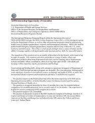 International Response Programs Branch Internship Opportunity