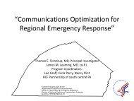 """Communications Optimization for Regional Emergency Response"""