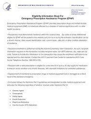Eligibility Information Sheet For Emergency Prescription Assistance ...