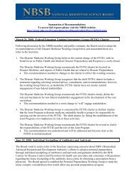 NBSB - Summation of Recommendation (PDF) - PHE Home