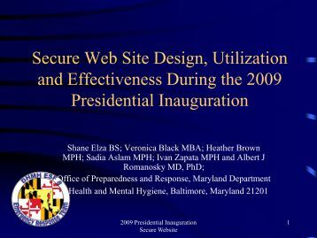 Secure Website Design, Utilization, and Effectiveness